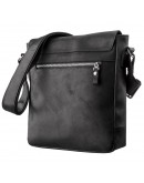 Фотография Черная сумка мужская через плечо SHVIGEL 11172