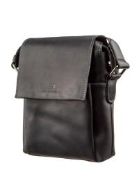 Мужская черная кожаная сумка SHVIGEL 11173