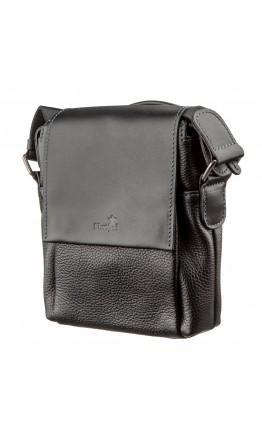 Черная мужская кожаная плечевая сумка SHVIGEL 11174