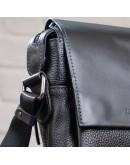 Фотография Черная мужская кожаная плечевая сумка SHVIGEL 11174