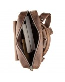 Фотография Небольшой кожаный винтажный рюкзак SHVIGEL 11175