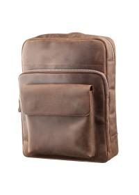 Небольшой кожаный винтажный рюкзак SHVIGEL 11175