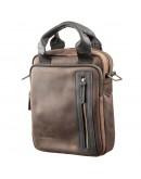 Фотография Кожаная винтажная мужская сумка барсетка SHVIGEL 11182