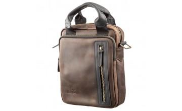 Кожаная винтажная мужская сумка барсетка SHVIGEL 11182