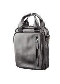 Кожаная сумка черная вертикальная SHVIGEL 11184