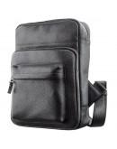 Фотография Черный кожаный небольшой рюкзак Shvigel 11185