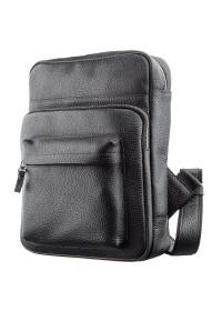 Черный кожаный небольшой рюкзак Shvigel 11185