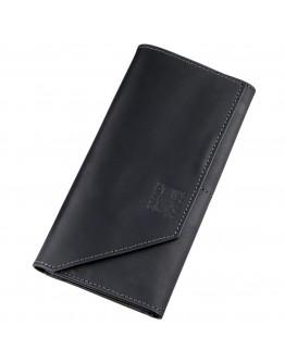 Черный удобный мужской клатч GRANDE PELLE 11214