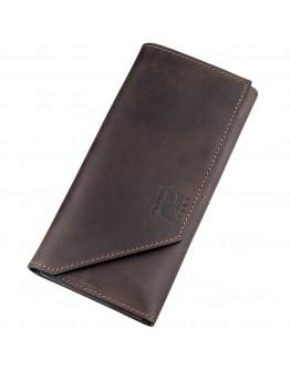 Коричневый кожаный клатч GRANDE PELLE 11215