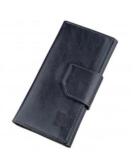 Темно-синий мужской кожаный клатч GRANDE PELLE 11221