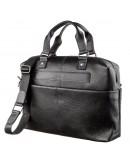 Фотография Мужская сумка черная кожаная SHVIGEL 11243