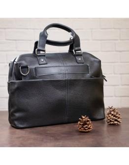 Мужская сумка черная кожаная SHVIGEL 11243