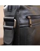 Фотография Сумка на плечо формата A4 черная кожаная SHVIGEL 11244