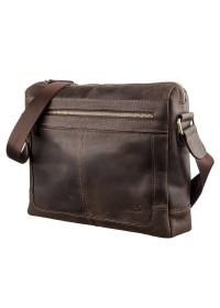 Сумка на плечо формата A4 из коричневой винтажной кожи SHVIGEL 11245