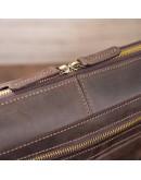 Фотография Сумка на плечо формата A4 из коричневой винтажной кожи SHVIGEL 11245