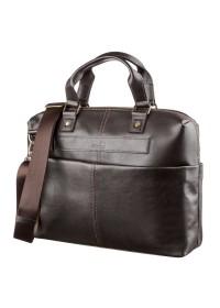 Мужская коричневая сумка для документов и небольшого ноутбука SHVIGEL 11247