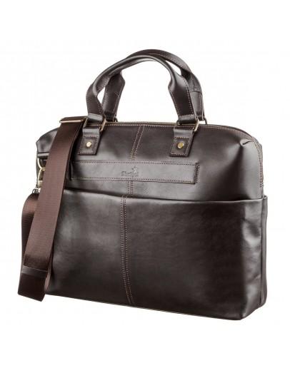 Фотография Мужская коричневая сумка для документов и небольшого ноутбука SHVIGEL 11247