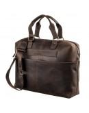 Фотография Мужская коричневая винтажная сумка SHVIGEL 11250