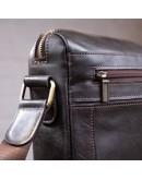 Фотография Сумка на плечо формата A4 коричневая кожаная SHVIGEL 11251