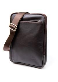 Сумка из гладкой кожи - планшет с накладным карманом SHVIGEL 11282