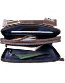 Фотография Сумка из гладкой кожи - планшет с накладным карманом SHVIGEL 11282