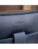 Фотография Мужская сумка синяя планшетка кожаная SHVIGEL 11284