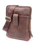 Фотография Мужская сумка коричневая планшетка кожаная SHVIGEL 11285