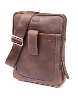 Мужская сумка коричневая планшетка кожаная SHVIGEL 11285