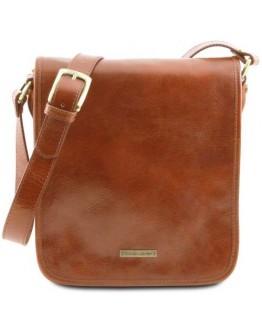 Мужская сумка на плечо медового цвета Tuscany Leather TL141255 honey