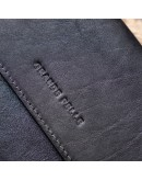Фотография Мужская кожаная барсетка - клатч черная GRANDE PELLE 11298