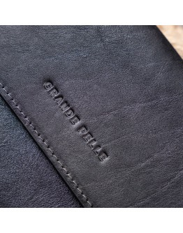 Мужская кожаная барсетка - клатч черная GRANDE PELLE 11298
