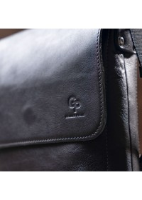 Мужская сумка мессенджер из натуральной гладкой кожи GRANDE PELLE 11333