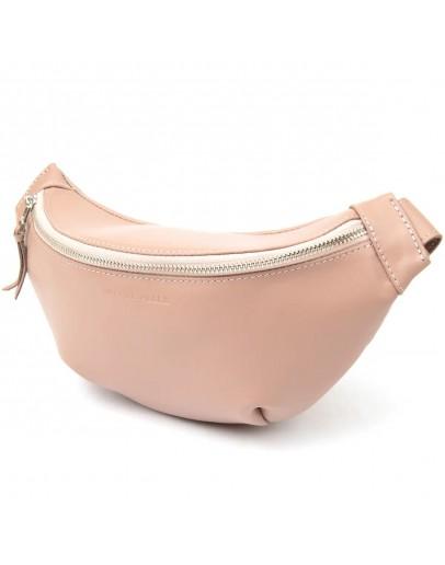 Фотография Кожаная розовая женская сумка на пояс GRANDE PELLE 11359