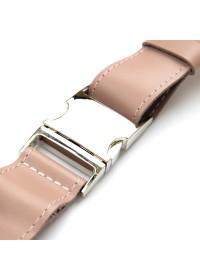 Кожаная розовая женская сумка на пояс GRANDE PELLE 11359