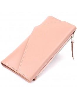 Женский кожаный розовый кошелек GRANDE PELLE 11360