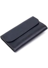 Темно-синий мужской кожаный клатч GRANDE PELLE 11427