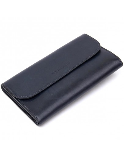 Фотография Темно-синий мужской кожаный клатч GRANDE PELLE 11427