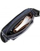 Фотография Повседневная темно-синяя кожаная сумка на плечо GRANDE PELLE 11433