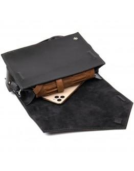 Черная женская небольшая кожаная сумка GRANDE PELLE 11434