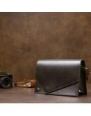 Фотография Черная женская небольшая кожаная сумка GRANDE PELLE 11434