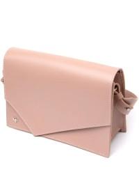 Розовая женская кожаная сумка GRANDE PELLE 11435