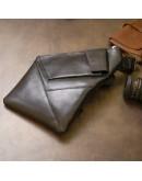 Фотография Черный кожаный мужской слинг GRANDE PELLE 11439