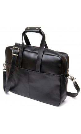 Черная кожаная сумка для ноутбука и документов GRANDE PELLE 11442