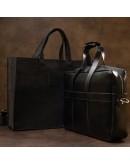 Фотография Черная кожаная сумка для ноутбука и документов GRANDE PELLE 11442