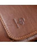Фотография Кожаная мужская коричневая сумка на плечо GRANDE PELLE 11567