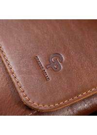 Кожаная мужская коричневая сумка на плечо GRANDE PELLE 11567