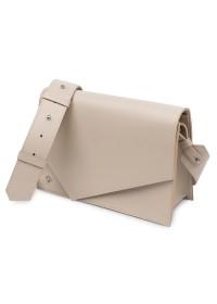Бежевая женская кожаная сумочка GRANDE PELLE 11568