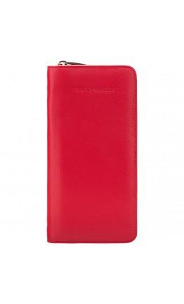 Женское кожаное красное дорожное портмоне Visconti 1157 (Red)