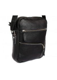 Вместительная и прочная черная сумка на плечо 7121