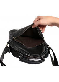 Прочная кожаная мужская сумка на плечо 7124